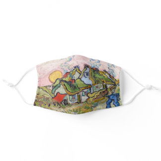 Vincent van Gogh - Houses and Figure Adult Cloth Face Mask
