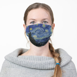 Vincent van Gogh Iconic Starry Night Poster Adult Cloth Face Mask
