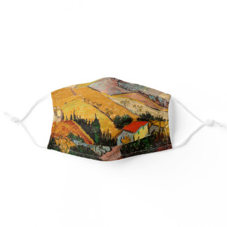 Vincent van Gogh - Landscape, House and Ploughman Adult Cloth Face Mask