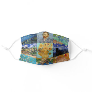 Vincent Van Gogh - Masterpieces Patchwork Adult Cloth Face Mask