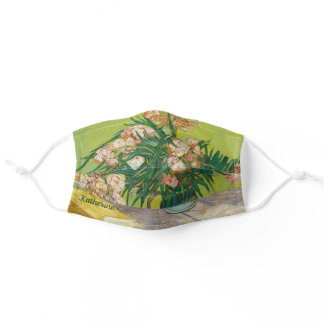 Vincent Van Gogh Oleanders Green Monogram Floral Adult Cloth Face Mask