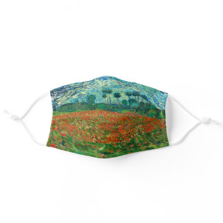 Vincent Van Gogh Poppy Field Fine Art Adult Cloth Face Mask
