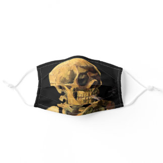 Vincent Van Gogh - Skull With Burning Cigarette Adult Cloth Face Mask