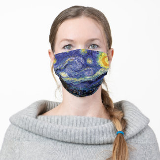Vincent Van Gogh Starry Night Adult Cloth Face Mask