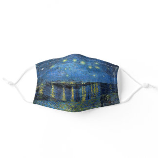 Vincent Van Gogh - Starry Night Over the Rhone Adult Cloth Face Mask