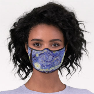 Vincent Van Gogh Starry Night Vintage Fine Art Premium Face Mask