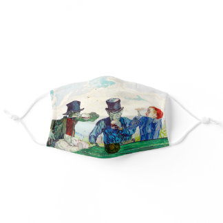 Vincent Van Gogh The Drinkers Fine Art Adult Cloth Face Mask