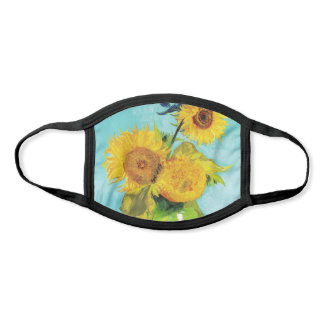 Vincent Van Gogh Three Sunflowers In a Vase Face Mask