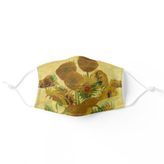 Vincent van Gogh - Vase with Fifteen Sunflowers Adult Cloth Face Mask