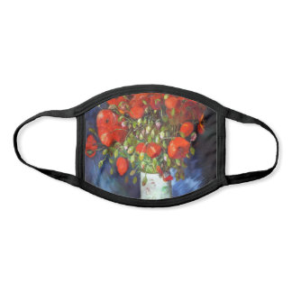 Vincent Van Gogh Vase with Red Poppies Fine Art Face Mask