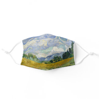 Vincent Van Gogh Wheat Field With Cypresses Adult Cloth Face Mask