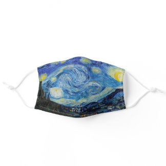 Vincent van Gogh's The Starry Night Painting Adult Cloth Face Mask