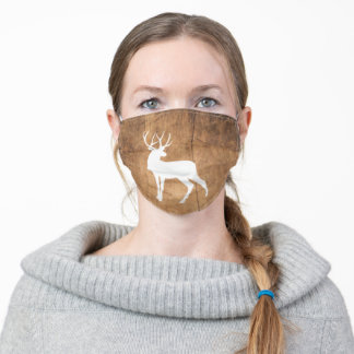 Vintage Beauty Wood & Deer Adult Cloth Face Mask