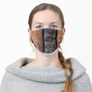 Vintage books in a row adult cloth face mask