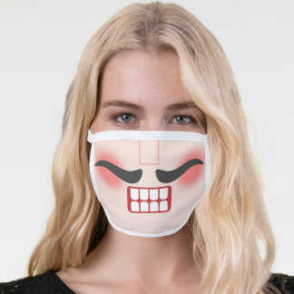 Vintage Christmas Nutcracker Mouth and Mustache Face Mask