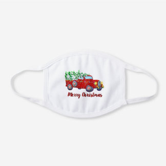 Vintage Christmas Truck Cotton Face Mask