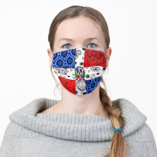 Vintage Dominican Republic Flag Adult Cloth Face Mask