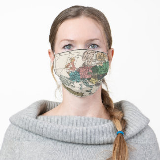 Vintage Europe Map Adult Cloth Face Mask