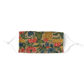 Vintage Floral Designer Garden Artwork Adult Cloth Face Mask