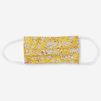 Vintage Floral in Sunshine Yellow Cloth Face Mask