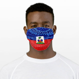 Vintage Haitian Flag Adult Cloth Face Mask