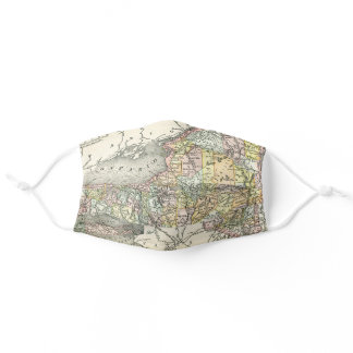 Vintage Map New York Adult Cloth Face Mask