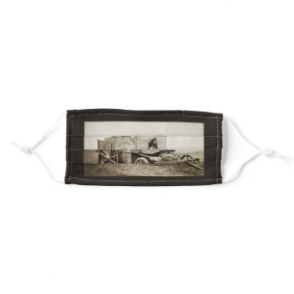 Vintage Photography Wagon of Roger Fenton Adult Cloth Face Mask
