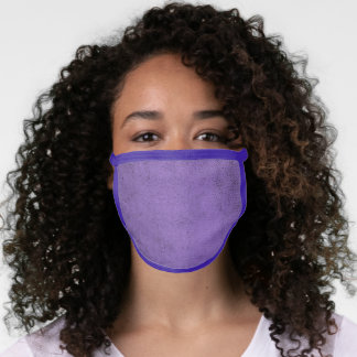 Vintage Purple Velvet Faux Fabric Texture Face Mask