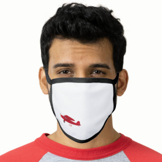 Vintage Red Airplane All-Over Print Face Mask