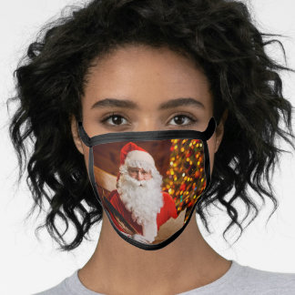 Vintage Red Santa Claus Merry Christmas Face Mask