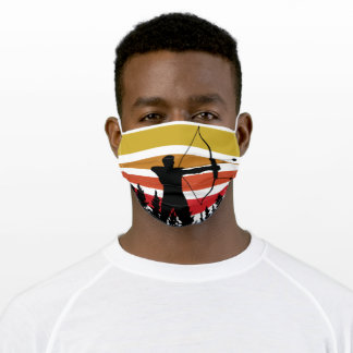 Vintage Retro Get Out And Shoot Straight Archer Adult Cloth Face Mask
