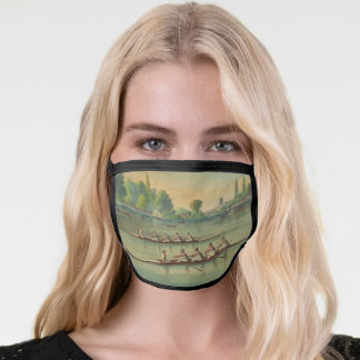 Vintage Rowers Crew Race Boat Race Face Mask
