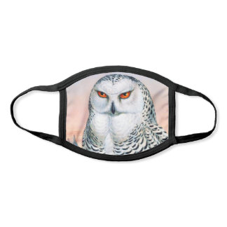 Vintage Snowy Owl Illustration Face Mask