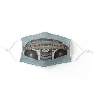 Vintage Stereo Radio Cassette Recorder Adult Cloth Face Mask