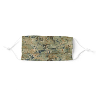 Vintage Style Marbled Adult Cloth Face Mask