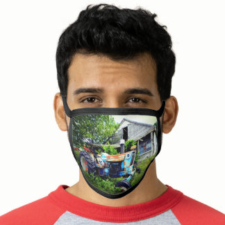Vintage Tractor Face Mask