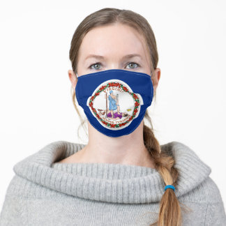 Virginia State Flag Adult Cloth Face Mask