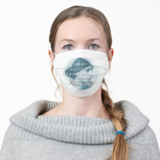 """Virginia Woolf """"Anonymous was a woman"""" (blue) Adult Cloth Face Mask"""