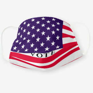 Vote American Flag Red White Blue Election USA Cloth Face Mask