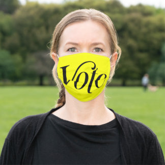 VOTE on Yellow! Adult Cloth Face Mask
