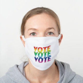 vote - pride rainbow Decorative Cotton Face Mask