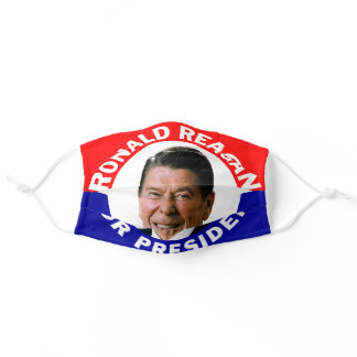 Vote Ronald Reagan President Face Mask