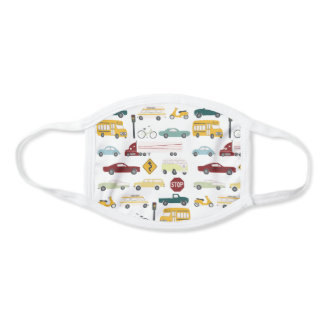Vroom Vroom Beep Cars & Trucks Pattern Face Mask