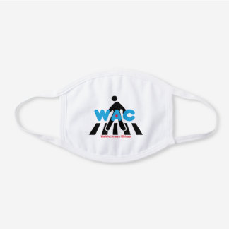 WAC Crosswalk Facemask White Cotton Face Mask
