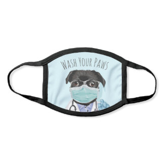 Wash Your Paws - Doctor Pug Face Mask