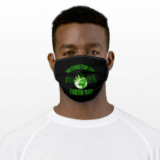 Washington for A clean Earth Happy Earth Day Gift Adult Cloth Face Mask