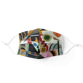 Wassily Kandins, Swinging, famous abstract artwork Adult Cloth Face Mask