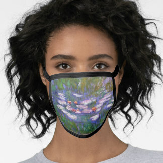 Water Lilies by Monet, Fine Art Facemask Face Mask