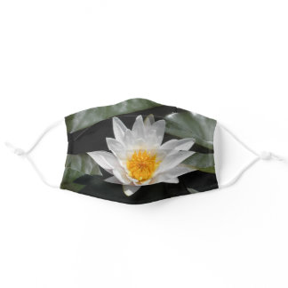 Water Lily Lotus Flower Beautiful Picture Photo Adult Cloth Face Mask