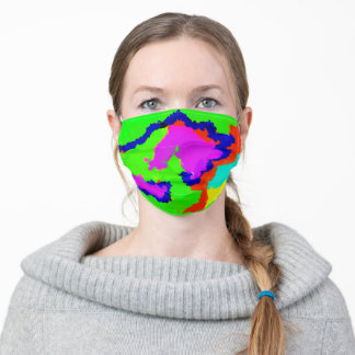 Watercolor Abstract Colours Patterns Multicolor Adult Cloth Face Mask